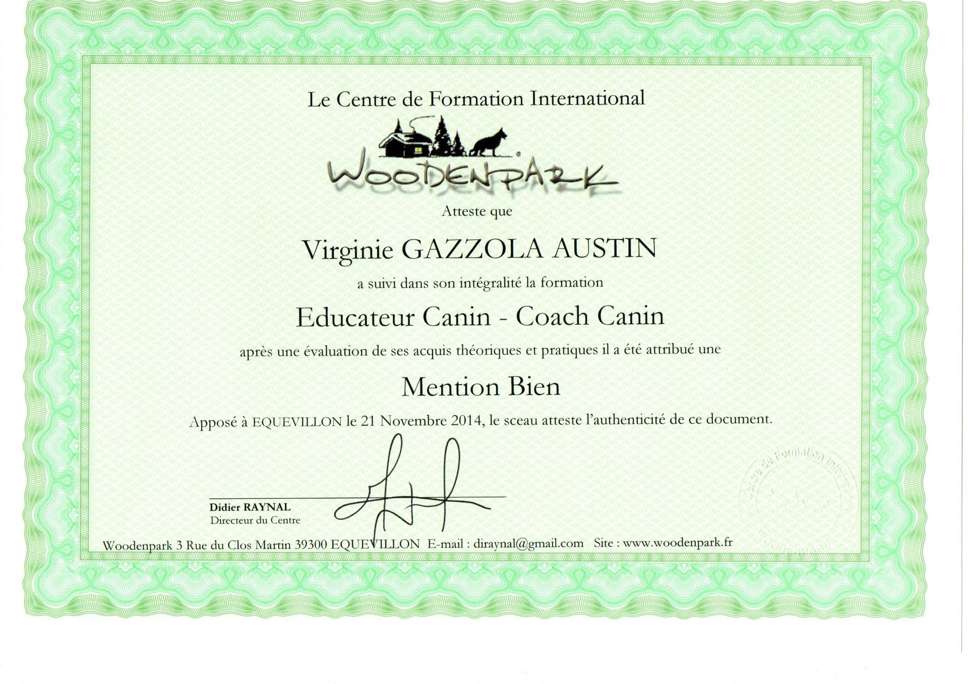 EDUCATEUR CANIN - COACH CANIN
